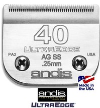 ANDIS ULTRAEDGE 40 SS Stainless Steel BLADE*Fit Most Oster,Wahl,Moser Cl... - $30.99