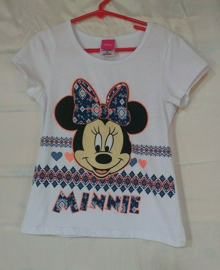 NWT Disney Store Minnie Mouse Girls T Shirt Tee Top Pink many sizes