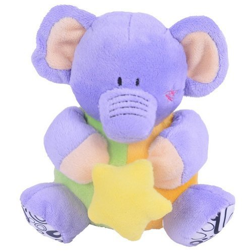 Purple Elaphant Toddler Shaking Plush Toys Cute Baby Stuffed Animals Infant Toys