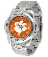 Clemson Tigers  Mens Steel Sport AnoChrome Watch & Dog Tag - $76.00