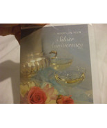 25 Years Of Marriage Silver Wedding Anniversary Best Wishes Card - $1.83