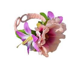 1 Pair Of Charming Purple Flowers Beach Bracelets Lace Bracelets Jewelry