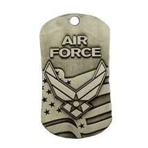Air Force Dog Tag -Antique Finish- with Isaiah 40:31 plus 3 prayer cards/magnet - $12.95