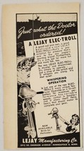 1947 Print Ad Lejay Elec-Troll Electric Fishing Trolling Motors Minneapo... - $9.88