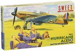 SWEET 144 Hurricane Aces Metal Wing plastic model kit 2 machines include... - $11.09