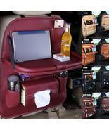New Car Seat Back Leather Kids Organizer Tidy Pocket Storage Bag Travel Ho - £51.83 GBP