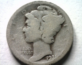 1921 MERCURY DIME ABOUT GOOD AG NICE ORIGINAL COIN FROM BOBS COINS FAST ... - $24.00