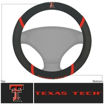 Fanmats NCAA Texas Tech New Embroidered Steering Wheel Cover Del. 2-4 Days - $15.83