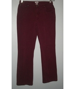 NorthCrest Five Pocket Burgundy Stretch Bootcut Jeans SZ 10P - $9.00
