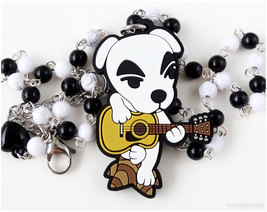 Animal Crossing KK Slider Rubber Charm Necklace, Gamer Jewelry, Kawaii G... - $24.00