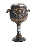 Pacific Giftware Viking Warrior Ship Ceremonial Chalice Cup 8oz Wine Goblet - $18.80