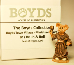 Boyds Town Village - Ms Bruin and Bell - Miniature Figure - $6.97