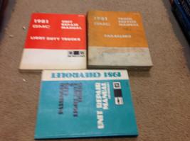 1981 GMC CABALLERO TRUCK Service Shop Repair Workshop Manual Set W Unit + - $69.29