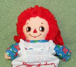 """8"""" KNICKERBOCKER RAGGEDY ANN ANDY Vintage Applause Dolls Embroidered Eyes TAIWAN image 7"""