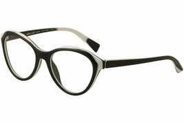 Alain Mikli Rx Eyeglasses Frames A03076 003 54-18-140 Black White Made in Italy - $105.06