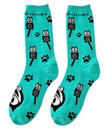 Genuine Kit Cat Klock Casual Funky Women's Teal Socks - $12.95
