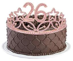 26th Birthday Gifts for Women, 26th Birthday Tiara and Sash Pink, Happy 26th Bir image 9