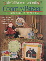 McCall's Creative Crafts COUNTRY BAZAAR Magazine 1984 CrossStitch/Candle... - $7.99