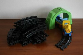 Playmobil 23 tracks curved + tunnel + train - $19.79