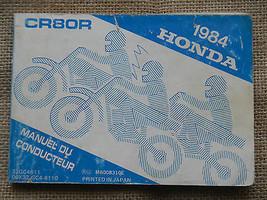 1984 84 Honda CR80R Cr 80 80R Owner Owners Manual - $25.58