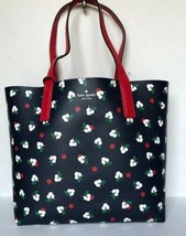 New Kate Spade Mya Arch Place Reversible Tote with Pouch Blazer Blue multi  - $119.00