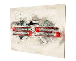 Chevrolet SS Super Sport Impala Watercolor Design 16x20 Aluminum Wall Art - $59.35