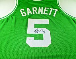 KEVIN GARNETT / NBA CHAMPION / AUTOGRAPHED BOSTON CELTICS CUSTOM JERSEY / COA image 1