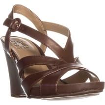 b825057828 naturalizer Brandy Comfort Wedge Sandals, Saddle Tan, 8.5 US / 38.5 EU -  $52.79