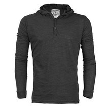 Royal Knights Men's Lightweight Slim Fit Pullover Henley Shirt Hoodie (Large, 01