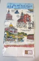 Historic Boston  Linen Tea Towel RARE Paul Revere  - NEW - $57.00