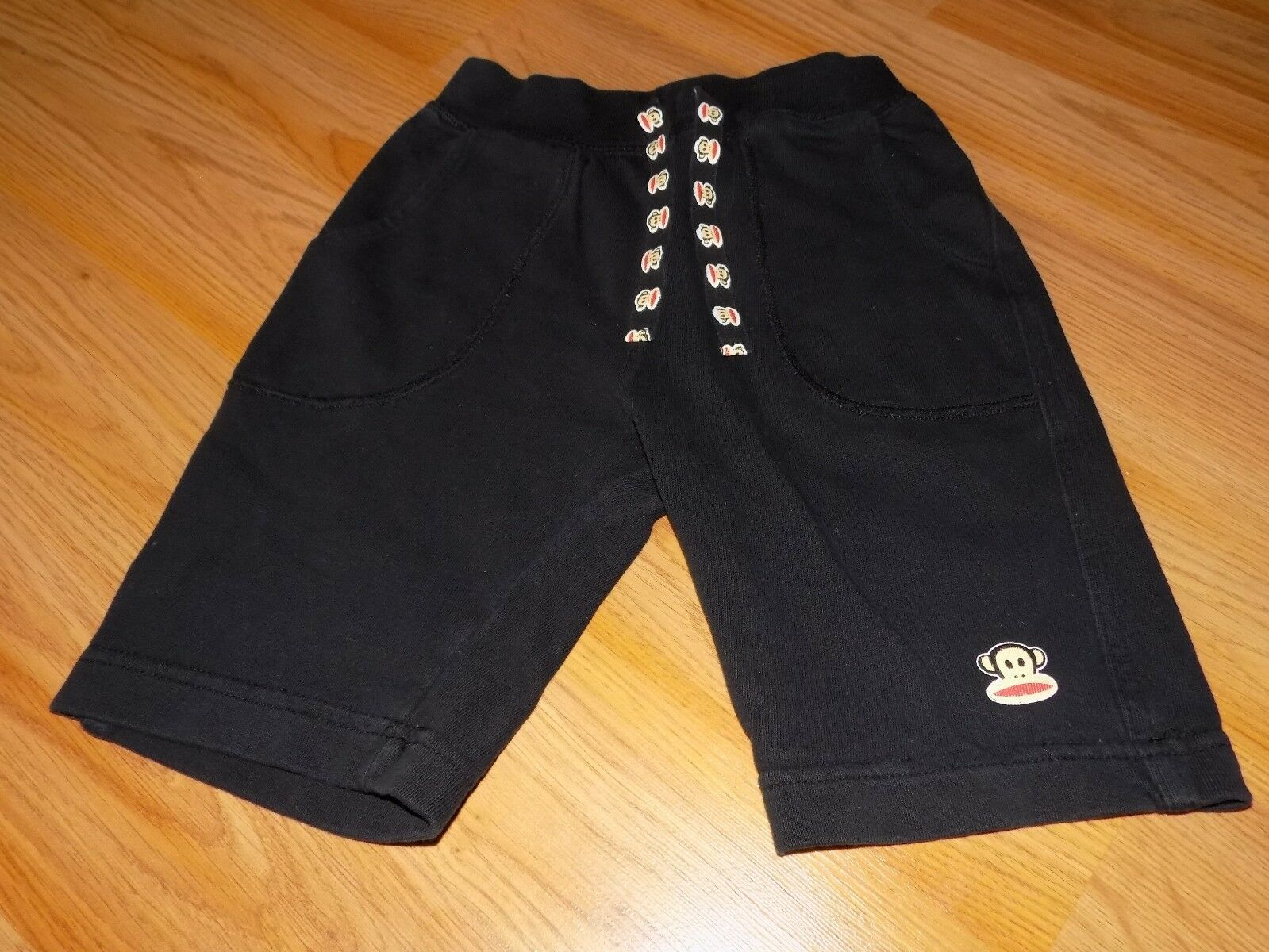 Primary image for Toddler Size 5T Paul Frank Monkey Solid Black Lounge Shorts Knee Length EUC