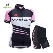 ZEROBIKE Women's Short Sleeve Cycling Jersey Jacket Cycling Shirt Quick Dry Brea - $28.70