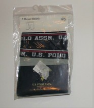 U.S. Polo Assn. Boys Boxer Briefs Navy Blue and Gray Size 4-5 NIP - $9.69