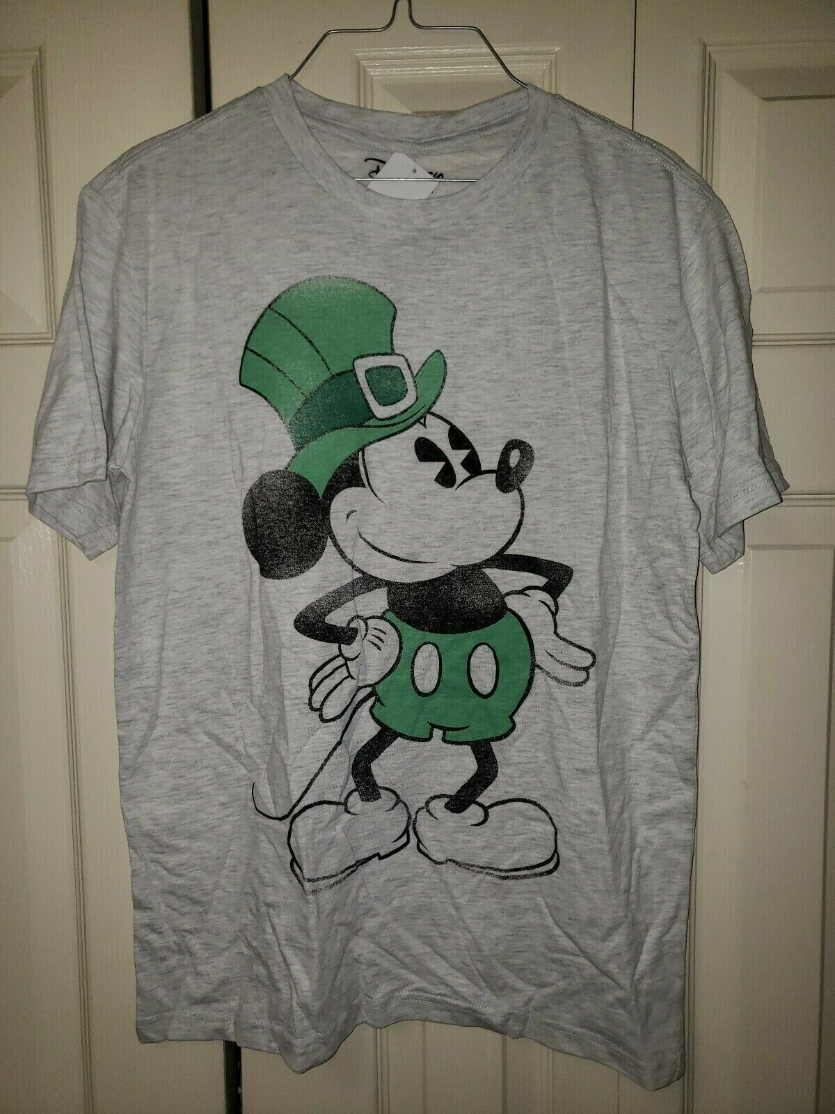 Primary image for Disney Mickey Mouse St Patrick's Day Tshirt NWT