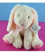 "Russ Hunnie Plush Bunny White Pink Bow Stuffed Rabbit Animal 13"" Easter ... - $37.61"