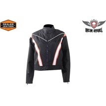 LADIES JACKET WITH STRIPES & STUDS SIZES SMALL TO 4XL SALE SAVE $$$ LCD1... - $24.99+