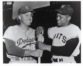 Willie Mays & Duke Snider 8X10 Photo Ny Giants Brooklyn Dodgers Picture Baseball - $3.95