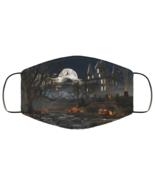 Face Mask Halloween Spooky Haunted House Pumpkins Cemetery Moon Scary De... - $13.95