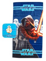 Jay Franco Classic Star Wars Ep7 2 Piece Cotton Bath/Wash Towel Set Kylo... - $15.93