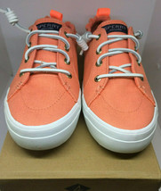 Sperry Top-Sider Crest Ebb Metallic Sneaker Women Sz 12 coral - $29.44