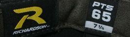 Richardson 7 1/4 Inch Fitted Black PTS 65 Uform Visor Baseball Cap image 7