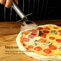 Stainless Steel Pizza Cutter Wheel Slicer Pancake Cutting Knife Kitchen ... - $6.39