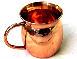 STREET CRAFT 16 Oz Copper Moscow Mule Mugs Solid Copper Cups Old Fashion... - $29.20