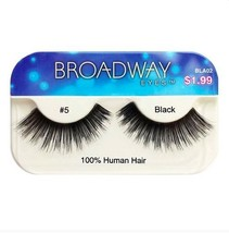 KISS BROADWAY EYELASHES BLA02 -   #5 100% HUMAN HAIR - $1.19