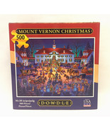 Dowdle Folk Art puzzle Mount Vernon Christmas 500 piece sealed bag map box - $6.00