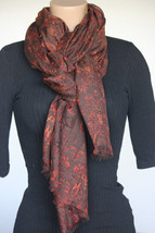 NEW CEJON Brown Orange Women's Neck Scarf or Wrap DW10477 - $11.87
