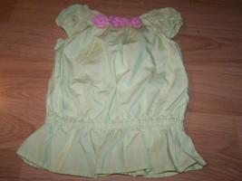 Girl's Size 4 Gymboree Light Green & Pink Flowers Summer Top Shirt EUC  - $12.00