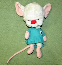 "Vintage Animaniacs The Brain 1997 Stuffed Animal 13"" Plush With Green Lab Coat - $34.65"