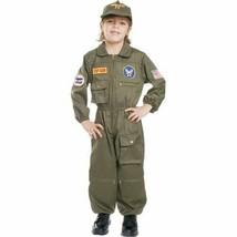 Air Force Pilot Top Gun Fighter Child Halloween Costume Boys Size Medium 8-10 - $27.94