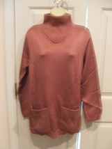 new/pkg NEWPORT NEWS  PETAL ROSE funnel neck long leggings sweater  medium - $14.10